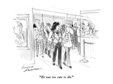 """He was too cute to die."" - New Yorker Cartoon Premium Giclee Print by Bernard Schoenbaum"