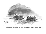 """I don't know why, but you look particularly mousy today, dear."" - New Yorker Cartoon Premium Giclee Print by Frank Modell"