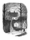 "Man walks by a house with a sign reading, 'Ye Olde John Smythe House and Y…"" - New Yorker Cartoon Premium Giclee Print by Stan Hunt"