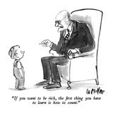 """""""If you want to be rich, the first thing you have to learn is how to count…"""" - New Yorker Cartoon Impressão giclée premium por Warren Miller"""