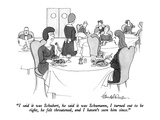 """I said it was Schubert, he said it was Schumann, I turned out to be right…"" - New Yorker Cartoon Premium Giclee Print by J.B. Handelsman"