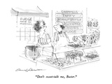 """""""Don't sweet-talk me, Buster."""" - New Yorker Cartoon Premium Giclee Print by Bernard Schoenbaum"""