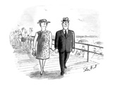 Man and wife handcuffed together. - New Yorker Cartoon Premium Giclee Print by Stan Hunt