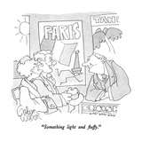 """Something light and fluffy."" - New Yorker Cartoon Reproduction giclée Premium par Gahan Wilson"