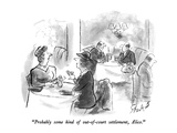"""Probably some kind of out-of-court settlement, Alice."" - New Yorker Cartoon Premium Giclee Print by Stan Hunt"