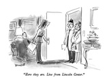 """Here they are.  Live from Lincoln Center."" - New Yorker Cartoon Premium Giclee Print by Frank Modell"