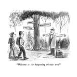 """""""Welcome to the burgeoning tri-state area!"""" - New Yorker Cartoon Impressão giclée premium por Warren Miller"""