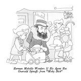 "Herman Melville Wonders If His Agent Has Oversold Spinoffs from ""Moby Dick…"" - New Yorker Cartoon Reproduction giclée Premium par Gahan Wilson"