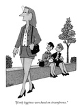 """""""If only legginess were based on circumference."""" - New Yorker Cartoon Premium Giclee Print by William Haefeli"""