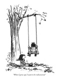 """""""When I grow up, I want to be rediscovered."""" - New Yorker Cartoon Premium Giclee Print by Robert Weber"""