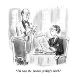 """I'll have the business prodigy's lunch."" - New Yorker Cartoon Impressão giclée premium por Warren Miller"