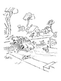 As the Crow Flies Cab Co. - New Yorker Cartoon Premium Giclee Print by Sidney Harris