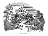 """G-27, G-27!"" - New Yorker Cartoon Premium Giclee Print by J.P. Rini"