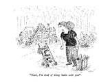 """""""Noah, I'm tired of doing battle with you!"""" - New Yorker Cartoon Premium Giclee Print by Edward Koren"""
