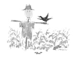 """Boo!"" - New Yorker Cartoon Premium Giclee Print by James Stevenson"