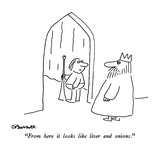 """From here it looks like liver and onions."" - New Yorker Cartoon Reproduction giclée Premium par Charles Barsotti"
