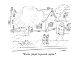 """You've played hopscotch before."" - New Yorker Cartoon Premium Giclee Print by Michael Maslin"