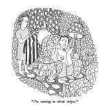 """I'm starting to think stripes."" - New Yorker Cartoon Reproduction giclée Premium par Gahan Wilson"