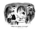 """What's the epiphany of the day"" - New Yorker Cartoon Premium Giclee-trykk av Donald Reilly"