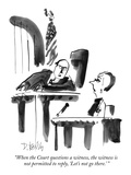 """""""When the Court questions a witness, the witness is not permitted to reply…"""" - New Yorker Cartoon Premium Giclee Print by Donald Reilly"""