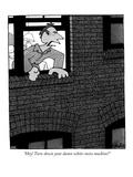 """""""Hey! Turn down your damn white-noise machine!"""" - New Yorker Cartoon Premium Giclee Print by William Haefeli"""