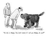 """So this is Skippy.  You don't mind if I call you Skippy, do you"" - New Yorker Cartoon Premium Giclee Print by Mischa Richter"