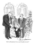 """Hi. I'm Wendell, Jr. I'm six and I'm fully invested."" - New Yorker Cartoon Premium Giclee Print by Bernard Schoenbaum"