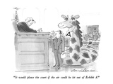 """It would please the court if the air could be let out of exhibit A."" - New Yorker Cartoon Premium Giclee Print by Bernard Schoenbaum"