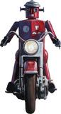 Moonrise (Robot on Motorcycle, Detail) by Eric Joyner Lifesize Standup Cardboard Cutouts by Eric Joyner