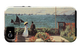 Terrazza sul mare a Sainte-Adresse Custodia iPhone 5 di Claude Monet