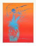 Blue Vase Limitierte Auflage von Peter Max