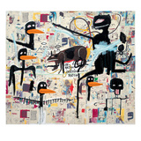 Tenor, 1985 Gicléedruk van Jean-Michel Basquiat