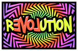 Revolution Love Flocked Blacklight Poster Poster
