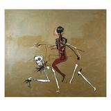 Rijden met de dood, 1988 Gicléedruk van Jean-Michel Basquiat