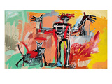Boy and Dog in a Johnnypump, 1982 Giclée-tryk af Jean-Michel Basquiat