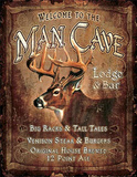 Welcome to the Man Cave Lodge & Bar Placa de lata