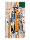 Anthony Clarke, 1985 Reproduction procédé giclée par Jean-Michel Basquiat
