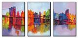Manhattan abstrait, triptyque Posters par Brian Carter