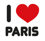 I Love Paris Wandtattoo