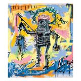 Zonder titel, 1981, gecombineerde afbeeldingen van o.a. vliegtuigen Gicléedruk van Jean-Michel Basquiat