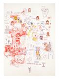 Uten tittel Giclee-trykk av Jean-Michel Basquiat