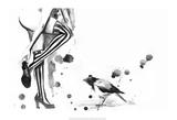 White Stripes Prints by Lora Zombie