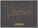 London (Dark Gray & Mustard) Láminas por Line Posters,