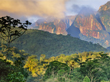 Rainforest and Granite Mountains, Serra Dos Orgaos National Park, Brazil Fotografisk trykk av Frans Lanting