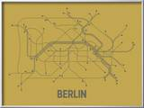 Berlin (Ochre & Gunmetal Gray) Arte por Line Posters,