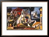 Paisagem mediterrânea Pôsteres por Pablo Picasso
