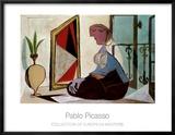 Frau vor dem Spiegel, 1937 Poster von Pablo Picasso
