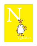 N is for Nightshirt (yellow) Posters tekijänä Theodor (Dr. Seuss) Geisel
