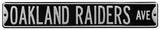 Oakland Raiders Ave Black Steel Sign Wall Sign
