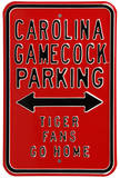 Gamecock Tigers Go Home Steel Sign Wall Sign